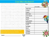 Cross Stitch Wordsearch Sheet Starter Activity Keywords Cover Textiles Design
