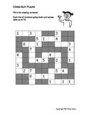 Cross Sum Math Puzzles for Kindergarten and First Grades