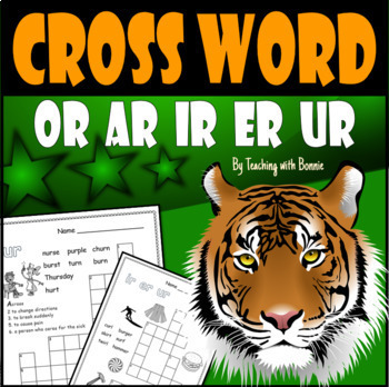 "Cross Word Puzzles: Vowel Sounds with ""r"" Great Review"