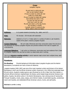 Cross by Langston Hughes Intensive Reading Activity