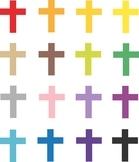 Cross clip art, Colorful Religious clipart, Christian clip
