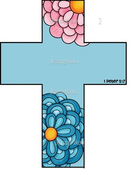 Cross craft kit- 1 Peter 5:7 God cares about you Bible crafts for kids