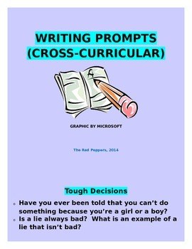 Cross-curricular writing prompts
