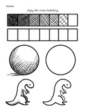Cross-hatching shading in drawing worksheet