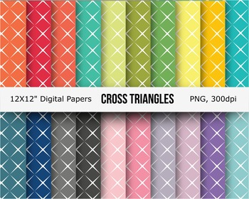 Cross triangle digital paper