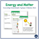 Crosscutting Concept - Energy & Matter - NGSS - Graphic Or