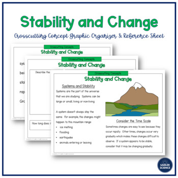 Crosscutting Concept: Stability and Change Grades 3-5 (NGSS)
