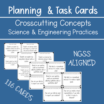 Bundle: Crosscutting Concept and Science and Engineering Practice Cards