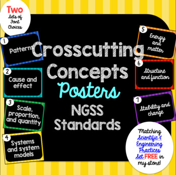 Crosscutting Concepts Posters NGSS (Next Generation Science Standards)