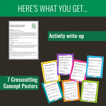 NGSS Crosscutting Concepts Sentence Stem Posters