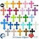 Crosses Clipart and Digital Papers, Bundle {Best Teacher Tools} AMB-1730