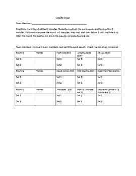 Crossfit Data Sheet