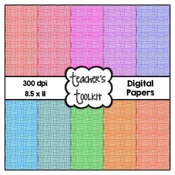 Crosshatch Digital Background Papers {8.5 x 11} Clip Art CU OK