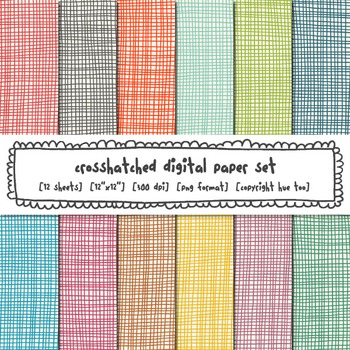 Crosshatch Digital Paper Set, Bright Rainbow Backgrounds for TpT Sellers
