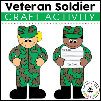Veteran's Day Soldier Cut and Paste