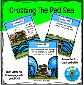 Crossing The Red Sea Scripture Cards