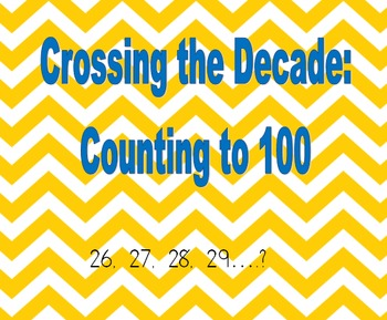 Crossing the Decade Counting practice