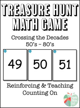 Crossing the Decades (50's - 80's) Treasure Hunt Math Game