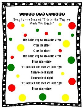 Crossing the Street Preschool Song...FREE