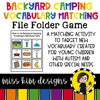 Backyard Camping Vocabulary Folder Game for Special Education