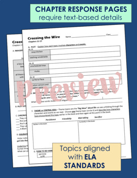 Crossing the Wire - Novel Guide Common Core Aligned