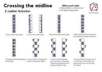 Crossing the midline - PE Task Cards