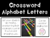 Crossword Alphabet Letters
