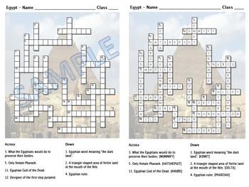 Crossword - Ancient Egypt