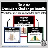 No prep Crossword Challenges Bundle