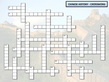 Crossword - Chinese History