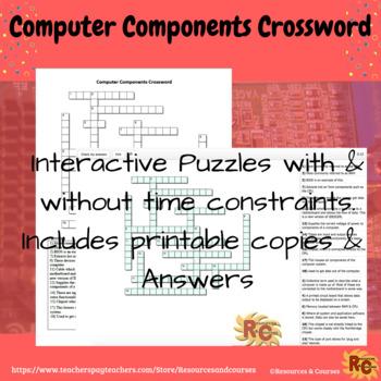 Interactive Crossword - Computer Components