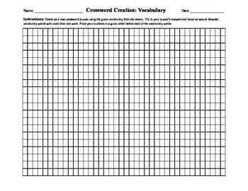 Crossword Creation