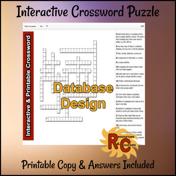 Crossword - Database Design
