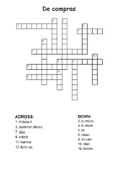 Crossword - De compras