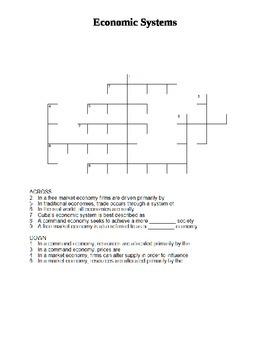 Crossword - Economic Systems