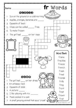 Crossword Fun {Blends}