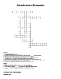 Crossword - Introduction to Economics