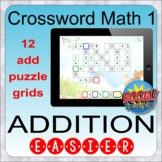 Crossword Math 1: Addition easier sums (BOOM distance learning)