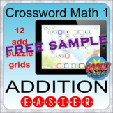 Crossword Math 1: Addition easier sums (BOOM distance lear