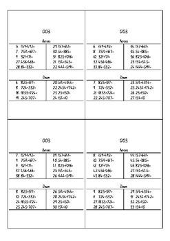 Mathematical Crossword Pack 002
