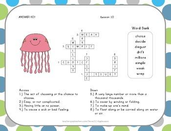 Crossword Puzzle - Jellies - Journeys Aligned
