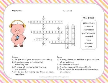 Crossword Puzzle - Ah, Music - Journeys Aligned
