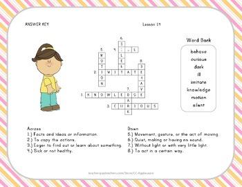 Crossword Puzzle - Helen Keller - Journeys Aligned