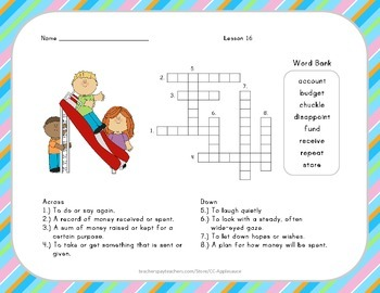 Crossword Puzzle - Mr. Tanen's Tie Trouble - Journeys Aligned
