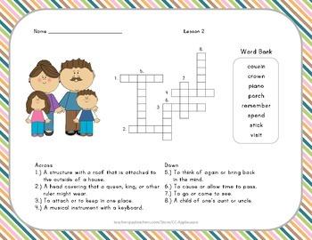Crossword Puzzle - My Family - Journeys Aligned
