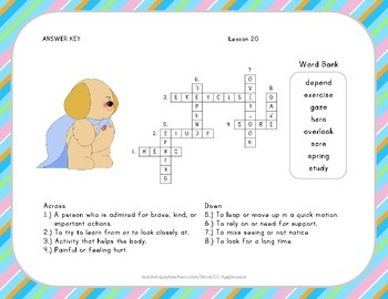 Crossword Puzzle - Dex: The Heart of a Hero - Journeys Aligned