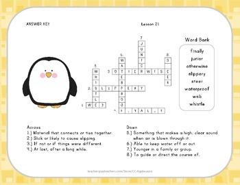 Crossword Puzzle - Penguin Chick - Journeys Aligned