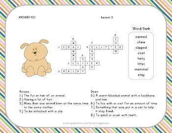 Crossword Puzzle - Dogs - Journeys Aligned