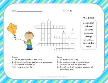 Crossword Puzzle - Now and Ben - Journeys Aligned