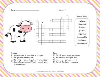Crossword Puzzles - 2nd Grade - Journeys Aligned